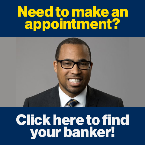 Find your banker graphic