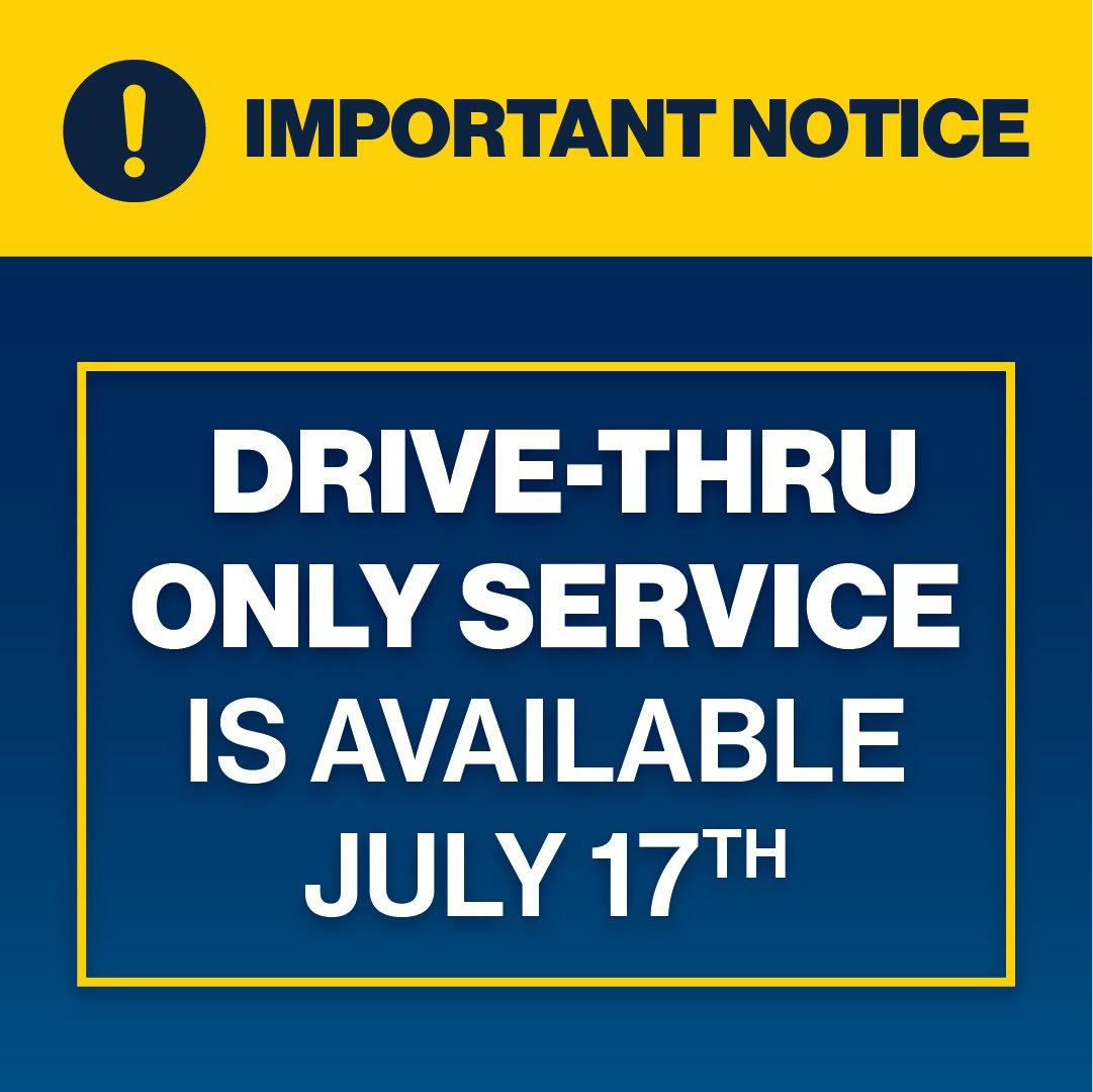 Drive-Thru Only Service